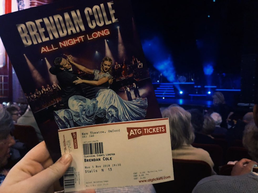 d7fbe19a06e35 Brendan Cole  All Night Long – UK TOUR (Review) – Ginger in the Theatre